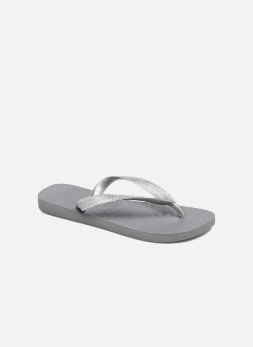 Flip flops Havaianas Top Tiras Grey detailed view/ Pair view