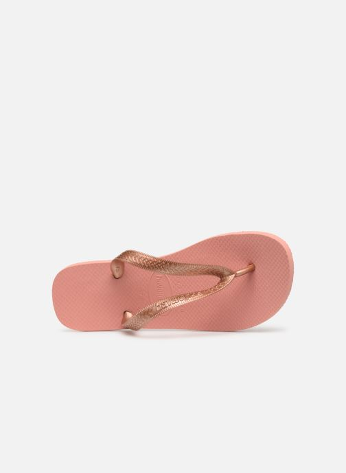 Tongs Havaianas Top Tiras Rose vue gauche
