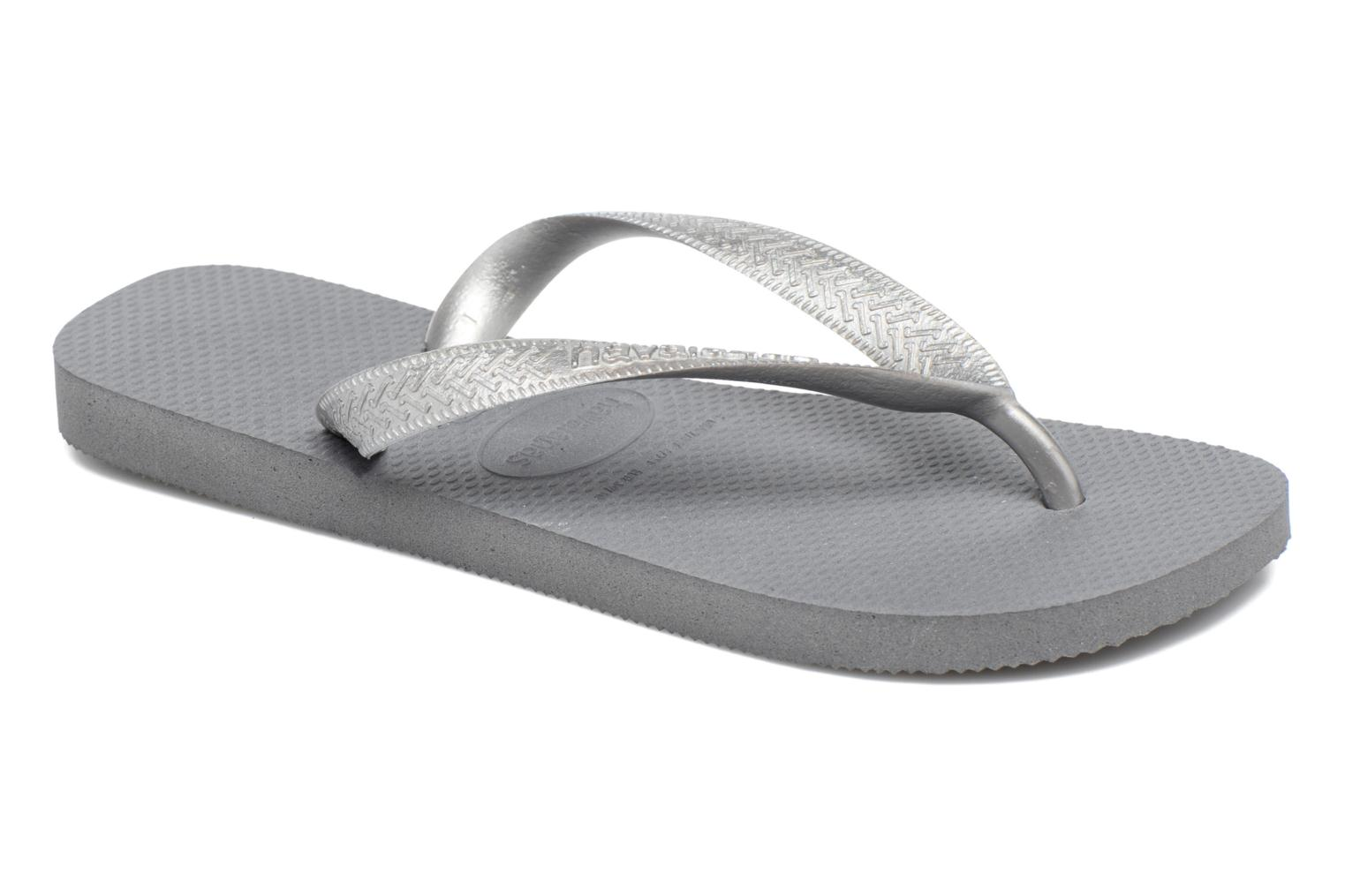 Tongs Havaianas Top Tiras Gris vue détail/paire