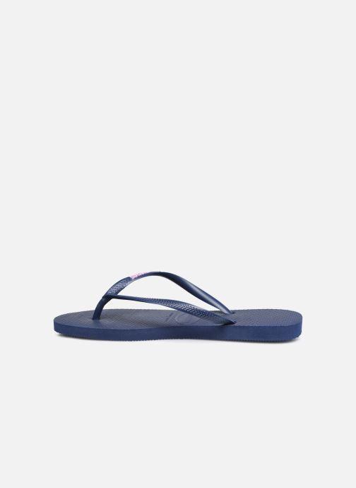 Flip flops & klipklapper Havaianas Slim Logo Blå se forfra