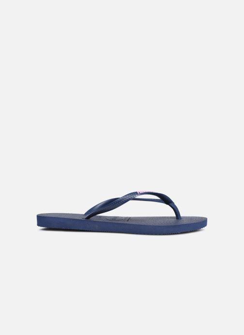 Flip flops & klipklapper Havaianas Slim Logo Blå se bagfra
