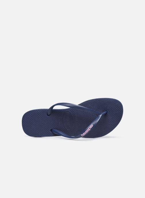 Flip flops & klipklapper Havaianas Slim Logo Blå se fra venstre