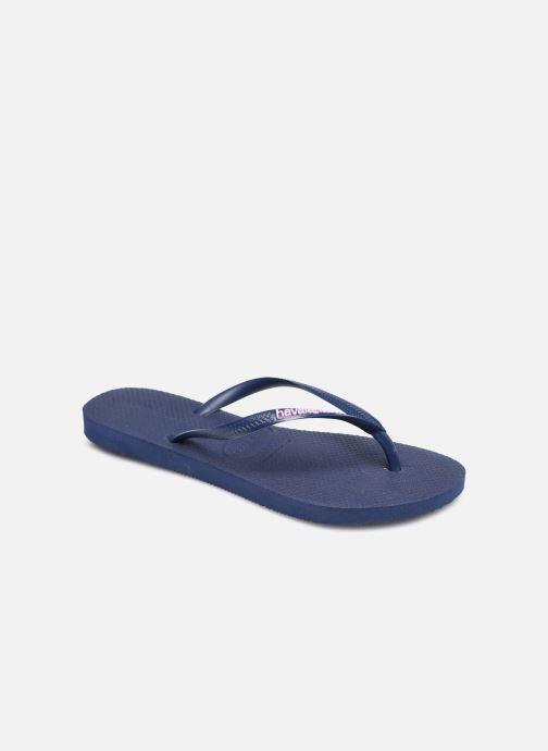 Flip flops & klipklapper Havaianas Slim Logo Blå detaljeret billede af skoene