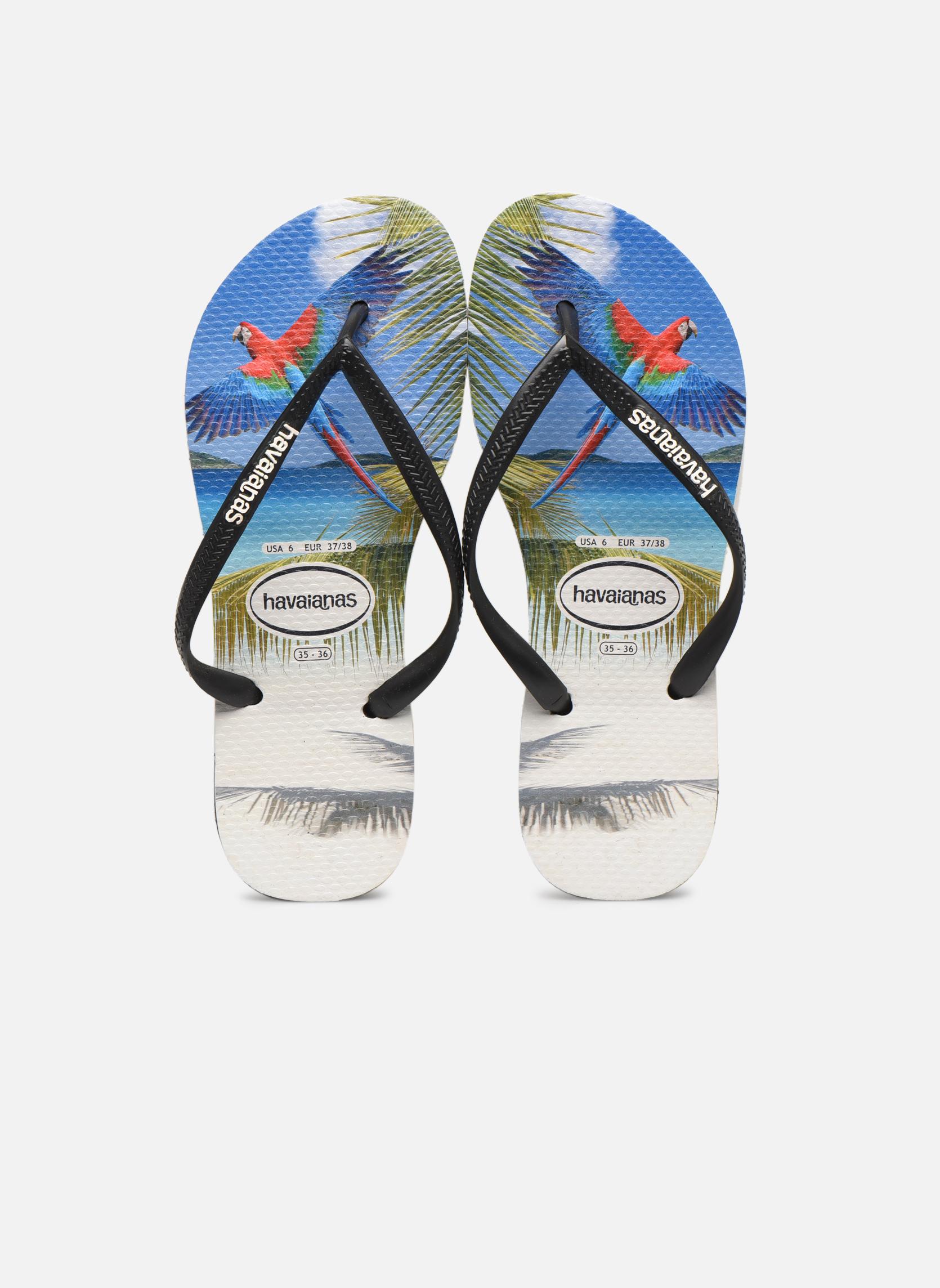 Tongs Havaianas Buzios Noir vue portées chaussures