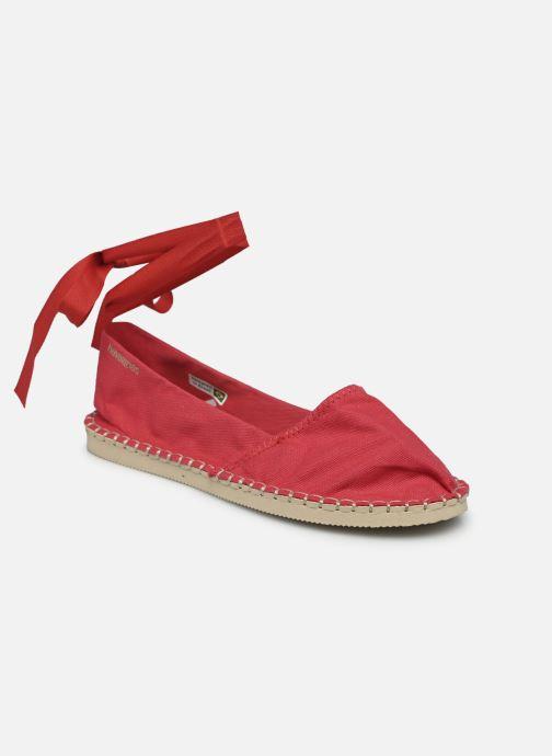 Espadrilles Havaianas Origine Slim Rouge vue portées chaussures