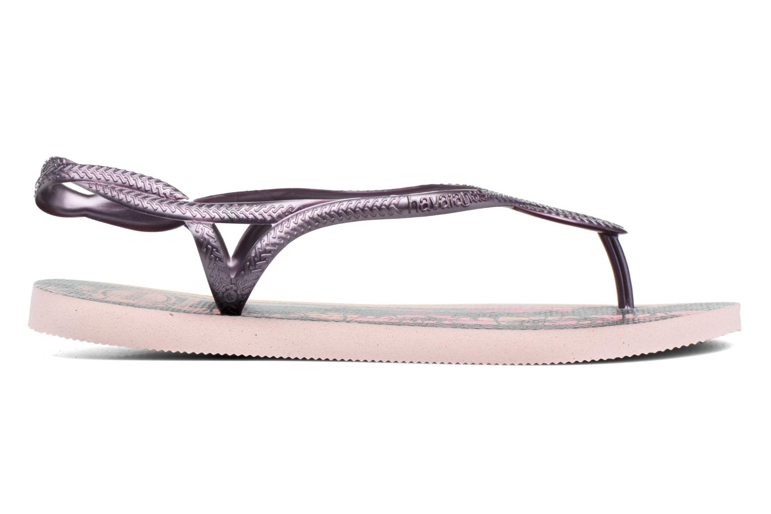 Sandals Havaianas Luna Print Pink back view