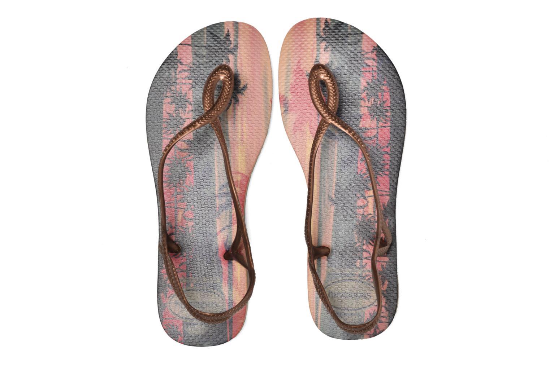 Sandals Havaianas Luna Print Bronze and Gold 3/4 view