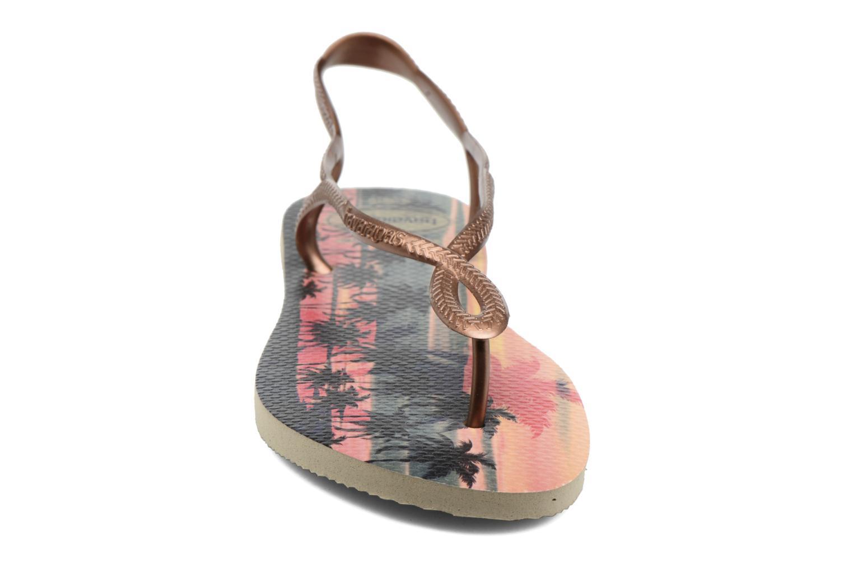 Sandaler Havaianas Luna Print Guld og bronze se skoene på