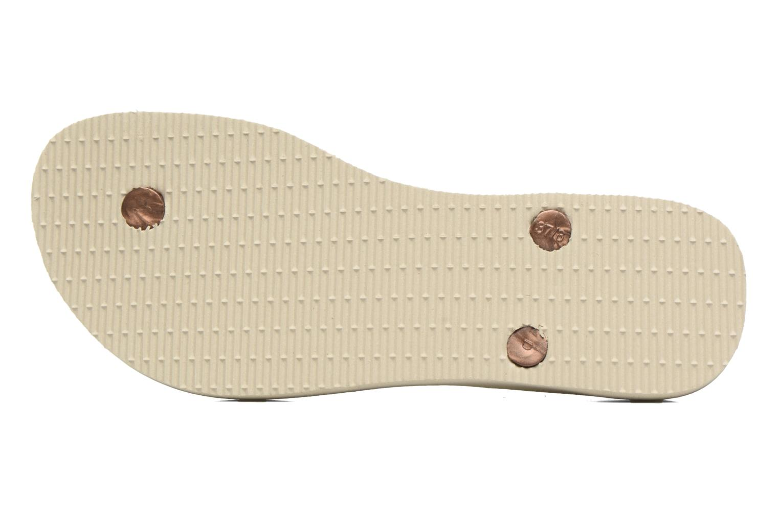Sandals Havaianas Luna Print Bronze and Gold view from above