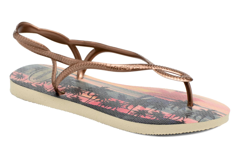 Sandaler Havaianas Luna Print Guld og bronze detaljeret billede af skoene