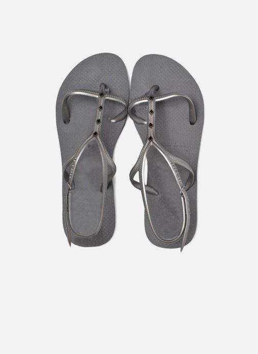 Sandales et nu-pieds Havaianas Allure Maxi Gris vue 3/4