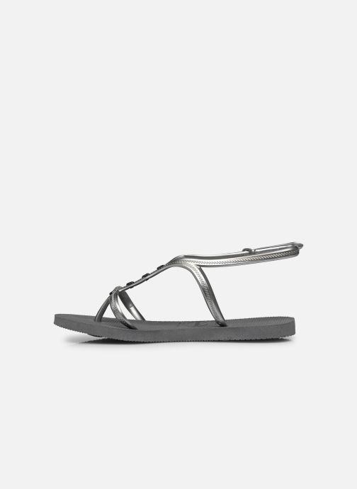 Sandales et nu-pieds Havaianas Allure Maxi Gris vue face