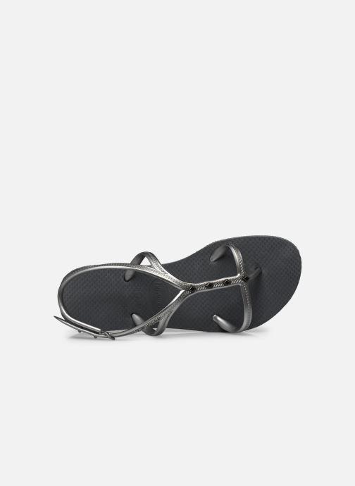 Sandales et nu-pieds Havaianas Allure Maxi Gris vue gauche