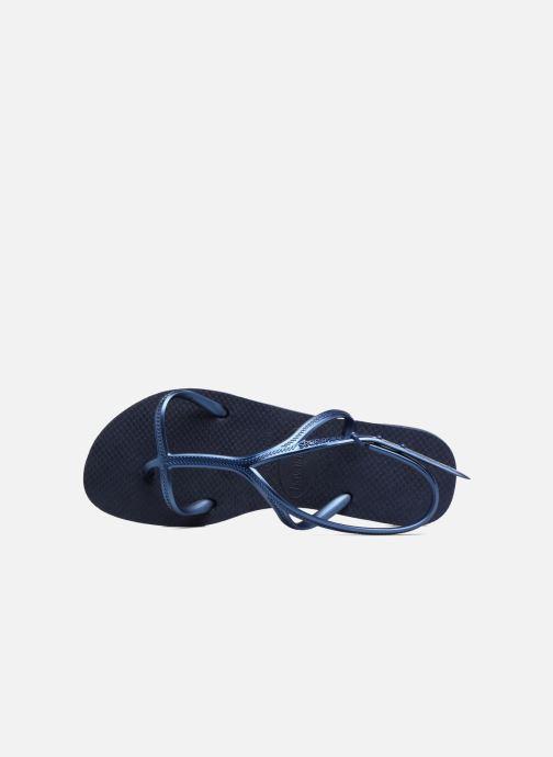 Sandalias Havaianas Allure Azul vista lateral izquierda
