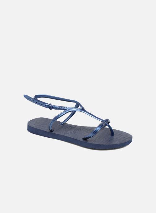 Sandalias Havaianas Allure Azul vista de detalle / par