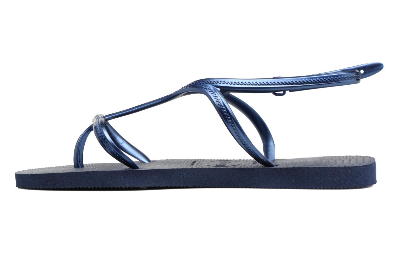 Sandalias Havaianas Allure Azul vista de frente