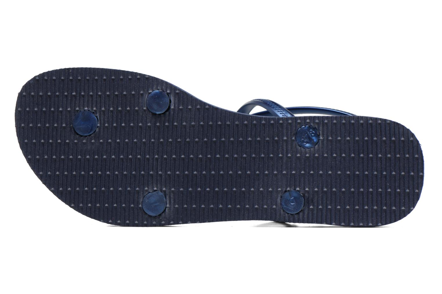 Sandals Havaianas Allure Blue view from above