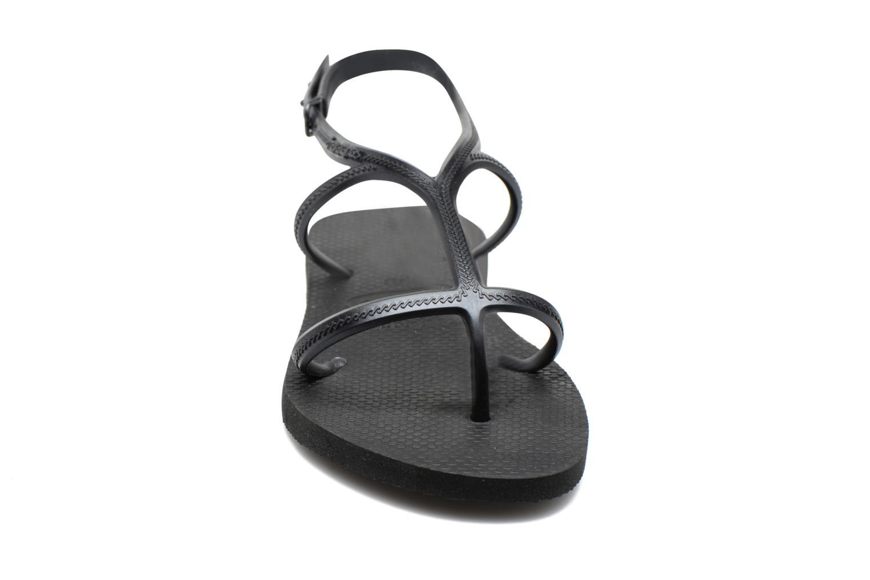 Sandales et nu-pieds Havaianas Allure Noir vue portées chaussures
