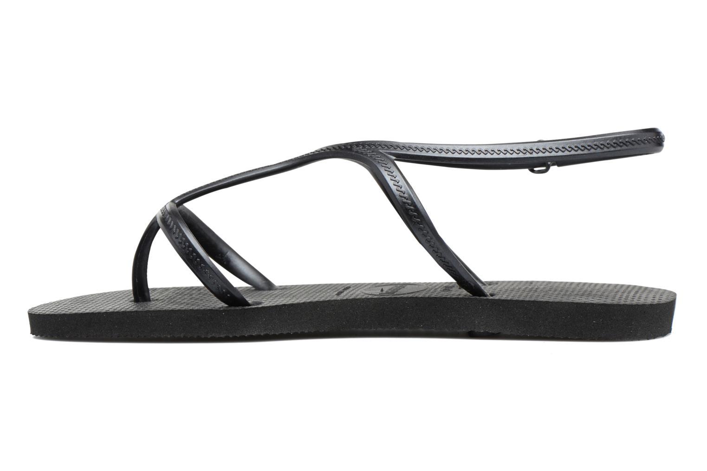 Sandales et nu-pieds Havaianas Allure Noir vue face