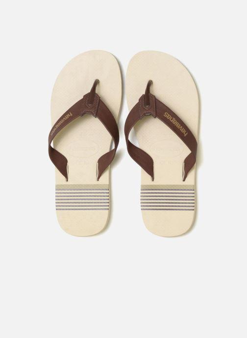 Tongs Havaianas Urban Craft Beige vue portées chaussures