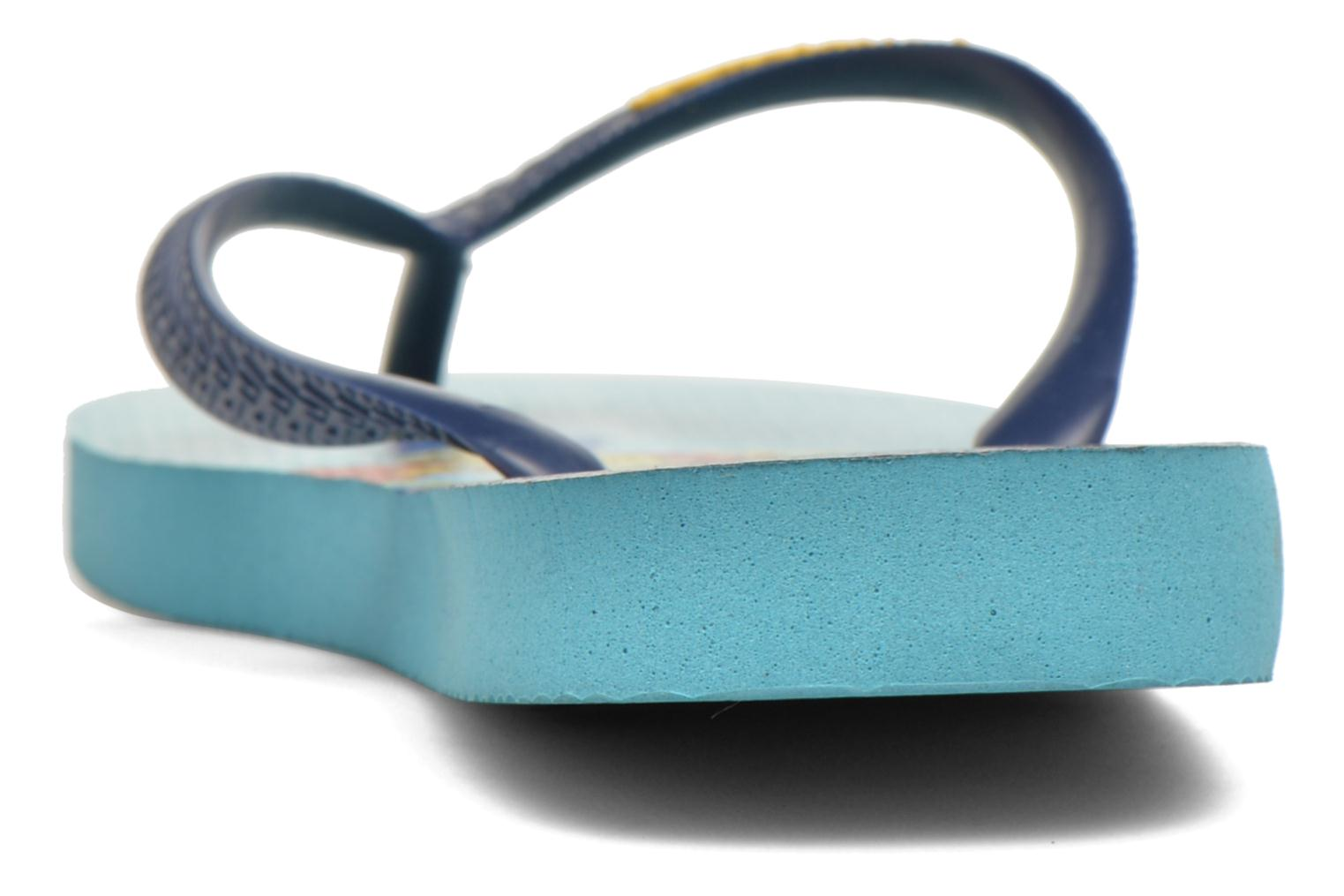 Flip flops Havaianas Simpsons Blue view from the right