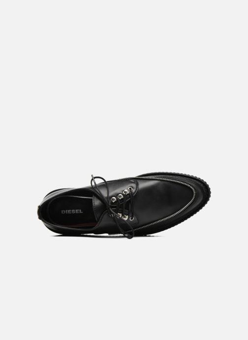 Chaussures à lacets Diesel D-Styny Zip Noir vue gauche