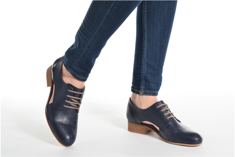 Zapatos con cordones Georgia Rose Celange Azul vista de abajo