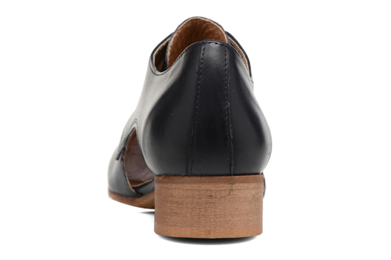 Zapatos con cordones Georgia Rose Celange Azul vista lateral derecha