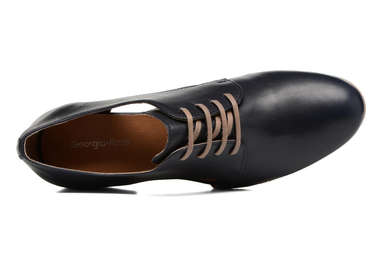 Zapatos con cordones Georgia Rose Celange Azul vista lateral izquierda