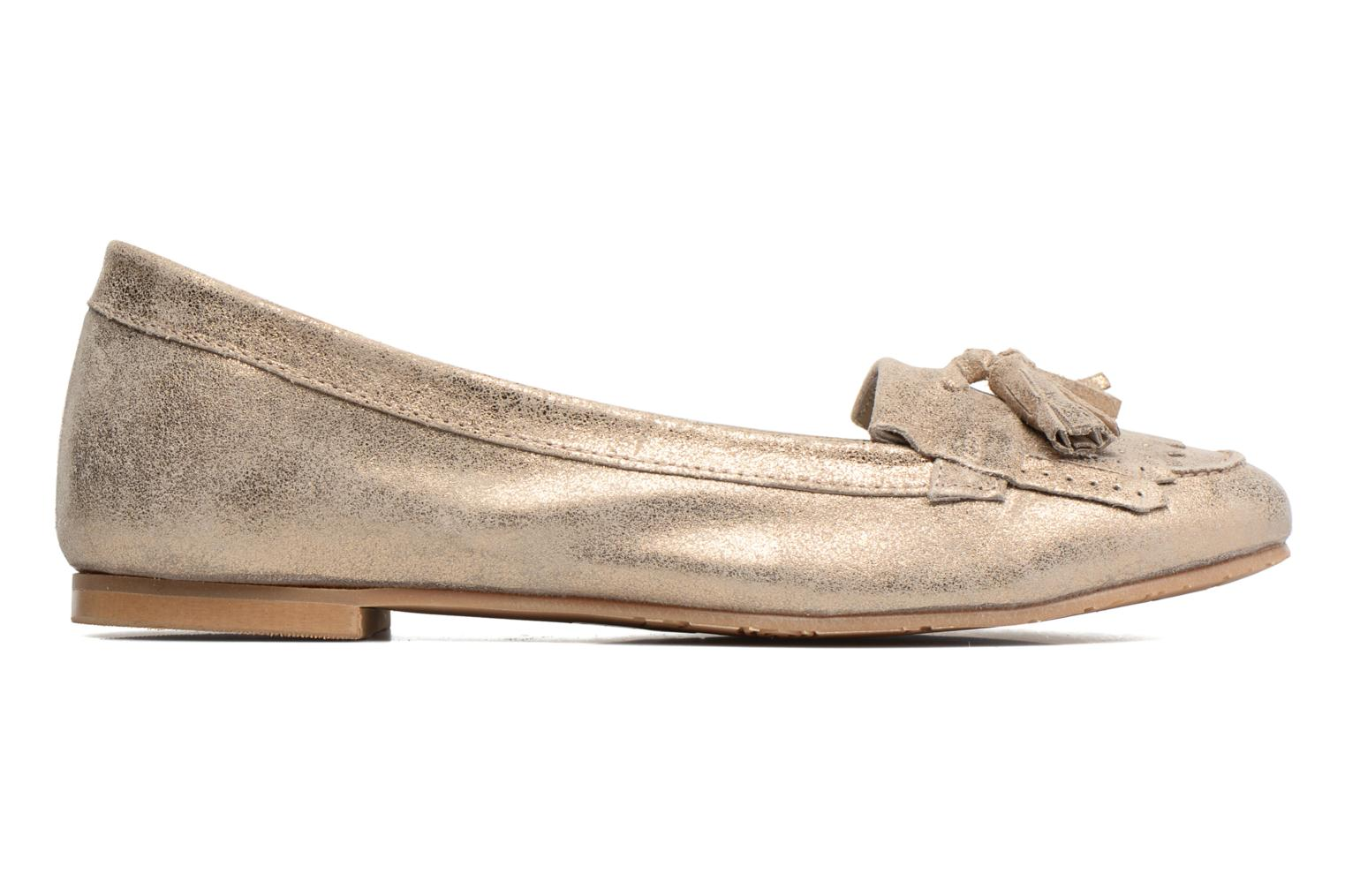 Loafers Georgia Rose Cepom Bronze and Gold back view