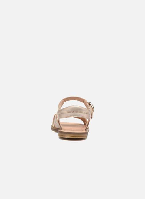 Sandales et nu-pieds Romagnoli Alma Or et bronze vue droite