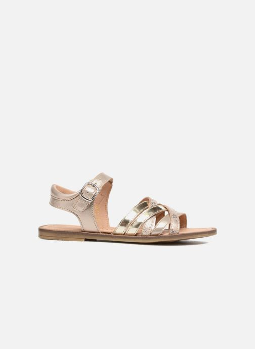 Sandales et nu-pieds Romagnoli Alma Or et bronze vue derrière