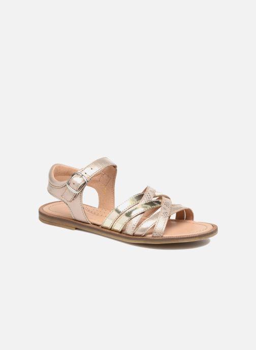 Sandales et nu-pieds Romagnoli Alma Or et bronze vue détail/paire