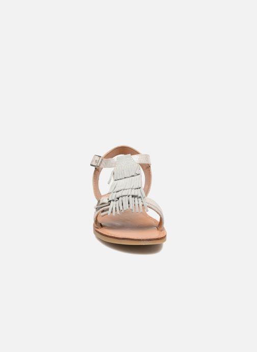 Sandales et nu-pieds Shwik Lazar Bi Fringe Argent vue portées chaussures
