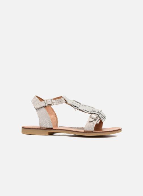 Sandales et nu-pieds Shwik Lazar Bi Fringe Argent vue derrière