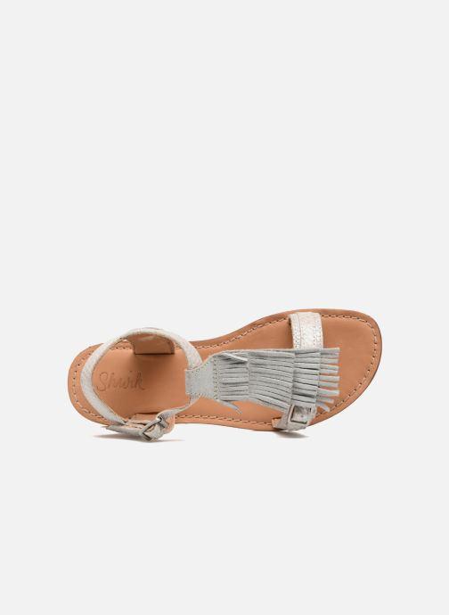 Sandales et nu-pieds Shwik Lazar Bi Fringe Argent vue gauche