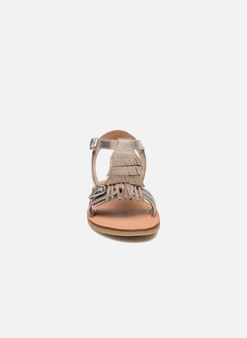 Sandals Shwik Lazar Bi Fringe Bronze and Gold model view