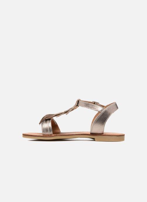 Sandals Shwik Lazar Bi Fringe Bronze and Gold front view