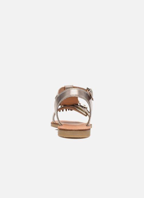 Sandales et nu-pieds Shwik Lazar Bi Fringe Or et bronze vue droite