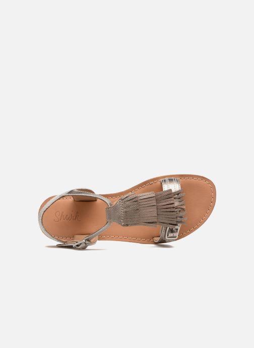 Sandales et nu-pieds Shwik Lazar Bi Fringe Or et bronze vue gauche