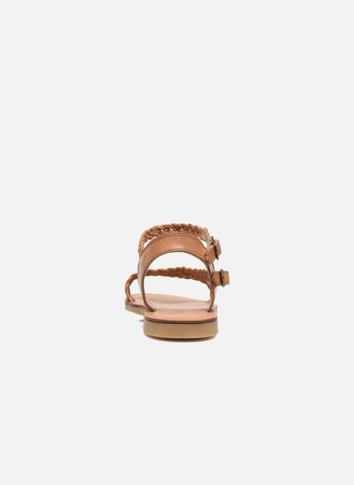 Sandales et nu-pieds Shwik Lazar Bi Stripes Marron vue droite