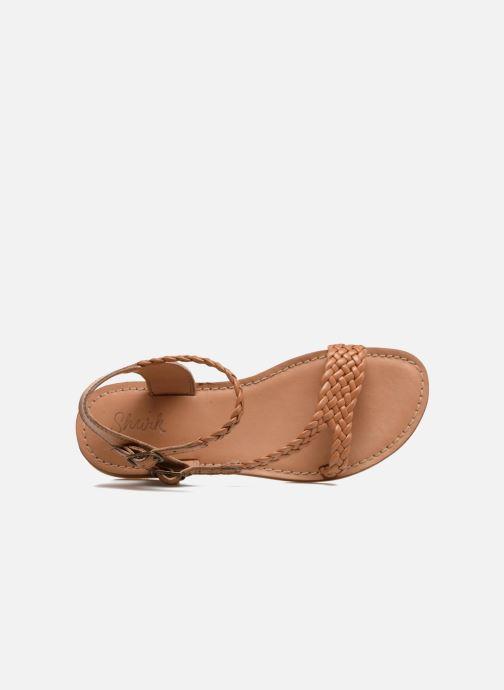 Sandales et nu-pieds Shwik Lazar Bi Stripes Marron vue gauche