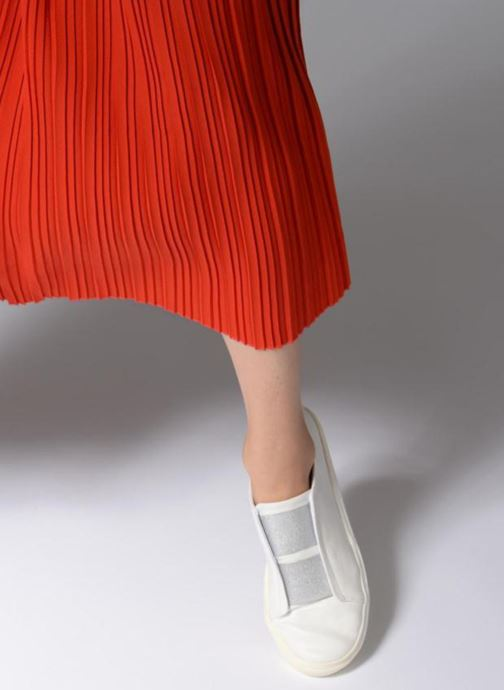 Sneaker Dorothy Perkins Iona weiß ansicht von unten / tasche getragen