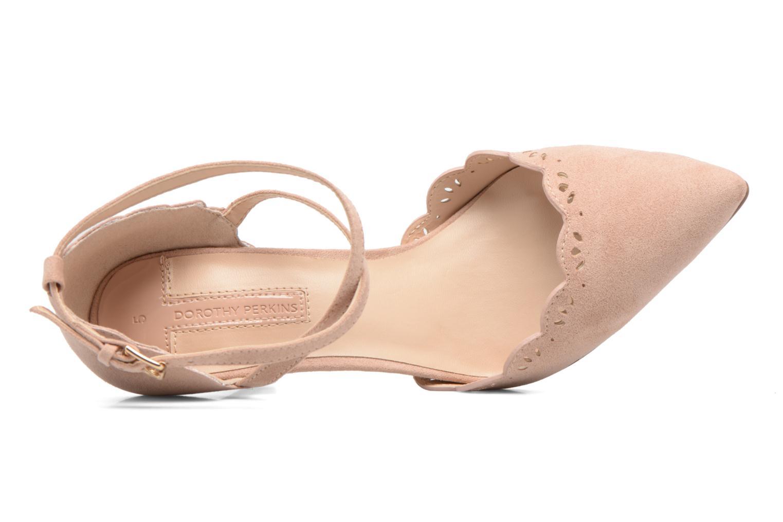 Zapatos de tacón Dorothy Perkins Genna Beige vista lateral izquierda