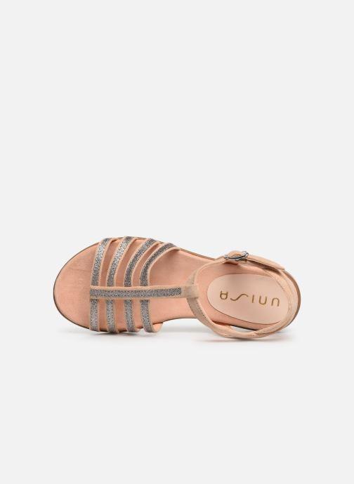 Sandales et nu-pieds Unisa Lotre Or et bronze vue gauche