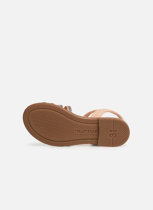 Sandales et nu-pieds Unisa Lotre Or et bronze vue haut