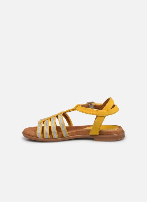 Sandalias Unisa Lotre Amarillo vista de frente