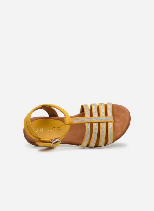 Sandalias Unisa Lotre Amarillo vista lateral izquierda