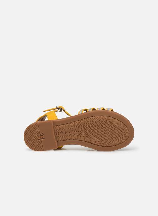 Sandales et nu-pieds Unisa Lotre Jaune vue haut
