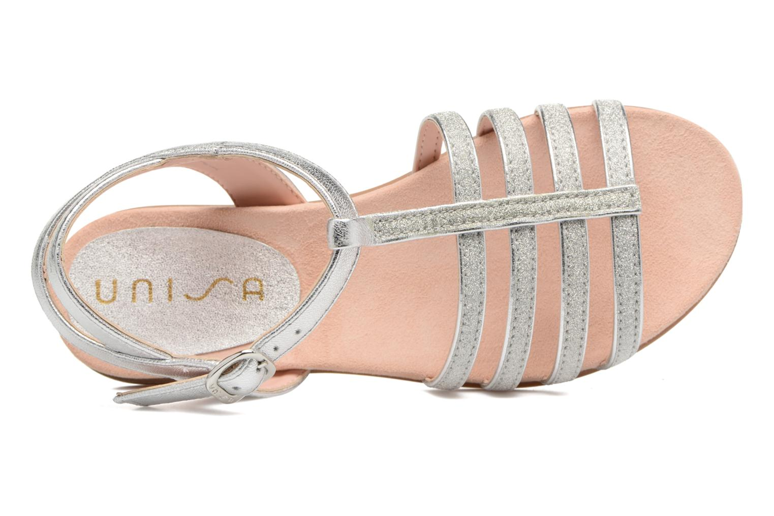 Sandals Unisa Lotre Silver view from the left